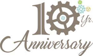 Large version of 10 yr anniversary logo for KnILE